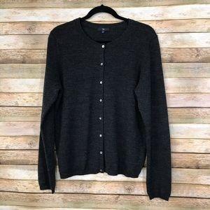 Gap Gray XL Wool Blend Button Down Cardigan